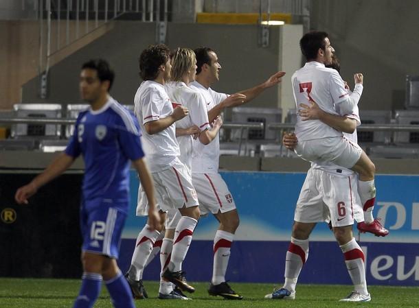 Zoran Tosic proslavlja gol protiv Izraela, Srbija-Izrael 2-0, Tel Aviv